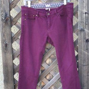 Roxy burgundy skinny jeans